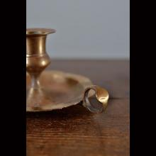 BRASS-CANDLE HOLDER